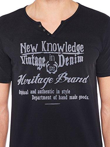 Colorado Denim Herren T-Shirts Jaden Schwarz (black 9000)
