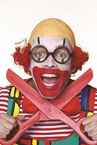 Wilbers Perücke Clownperücke mit Glatze Herren Clown Herrenperücke (Clown Glatze Perücke)