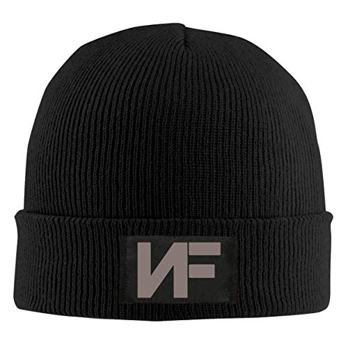 Multi Color Knit Skull Cap (fgjfdjj Mens Womens Beanie Cap Watch Hat Winter Warm Knit Skull Hat Cap with NF Logo Printed Black)