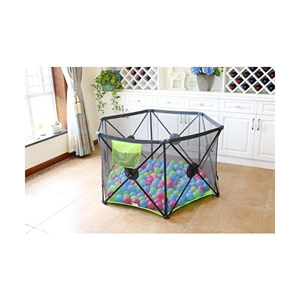 Callowesse Pop Up and Play Secure Easy Fold Playpen Callowesse Largest 6-panel playpen - 144cm across instead of 122cm, 72cm tall Mesh sides to maximise visbility and breathability Added locking mechanisms to enhance stability and security to keep your little one secure 2