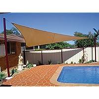 LetsBRICO Toldo Triangular 360x360x360 cm de Lona Tipo Vela para Terrazas