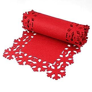 eBuyGB Festive Camino de Mesa de Navidad, Fieltro, Rojo, 31,6x 10,8x 8.61cm