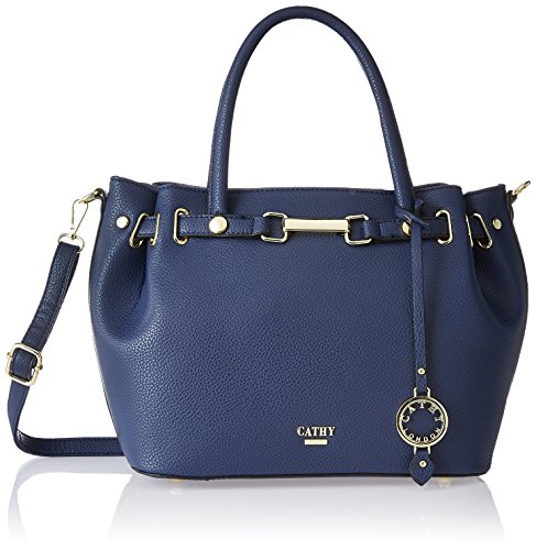 Cathy London Women\'s Handbag, Colour- Blue, Material- Synthetic Leather