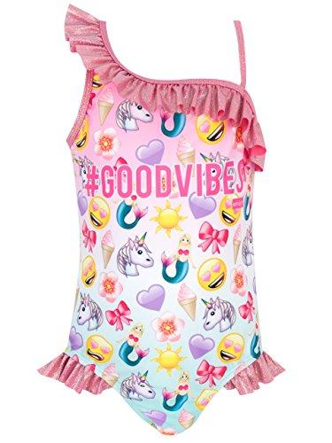 Emoji Mädchen Badeanzug 128 ()