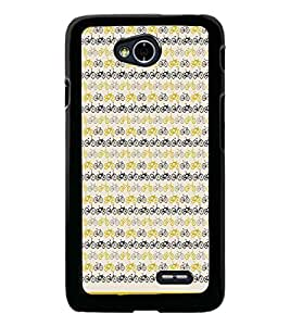 PrintDhaba Cycle Pattern D-1478 Back Case Cover for LG L90 (Multi-Coloured)