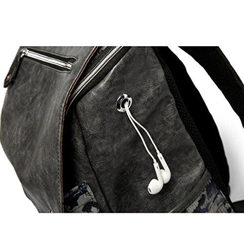 Die Mode Der Rucksack-Männer Persönlichkeit 32 0 Cm * 16 0 Cm * 45 0 Cm CamoBlack