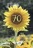 A4 XXL Geburtstagskarte zum 70. Sonnenblume viele Wünsche