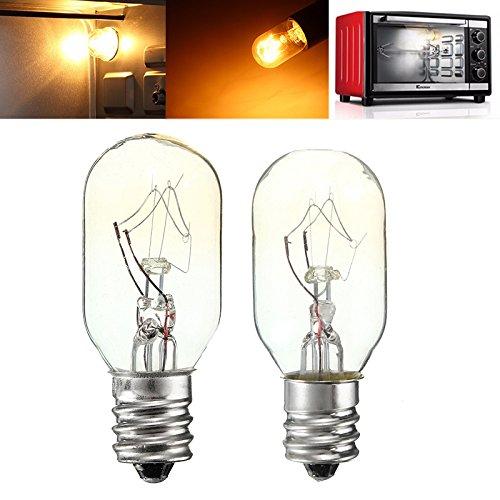 120v Glühbirne Lampe (MASUNN 20W/25W 120 V E12 Glühbirnen Glas Glühbirne Kühlschrank Salz Backofen Lampe-25w)