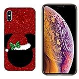 Hülle iPhone XS Max Case Apple iPhone XS Max Frohe Weihnachten Weihnachts-Topper/Cover Druck auch an den Seiten/Anti-Rutsch Anti-Rutsch Anti-Scratch Schock-resistenten Schutz Schutzulle Starre