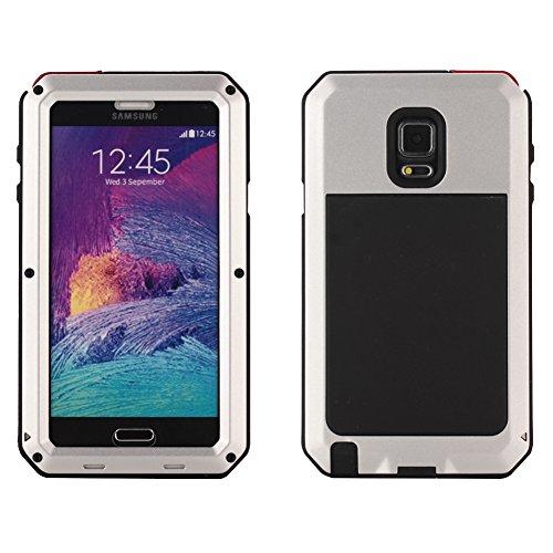 MNBS Phone Coque Etui Housse Antichoc Militaire Heavy Duty Shock Proof Survivor Protective Housse Pour iPhone 6/6SRed Silver 5