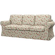 Soferia - IKEA EKTORP Funda para sofá cama de 3 plazas, Provence Pink