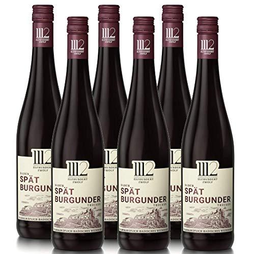 1112 Spätburgunder Trocken - Rotwein der Marke Elfhundertzwölf (6 x 0,75l)
