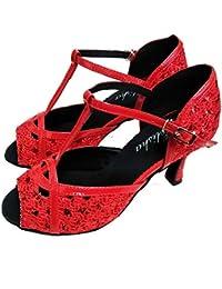 HCCY Zapatos Rojos de la Danza de la Parte Inferior Suave de la Boca de los f8d549ea3398