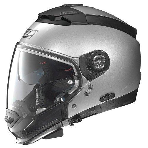 Nolan N44Evo Special Lexan N-Com Modular Motorcycle Helmet Salt Silver