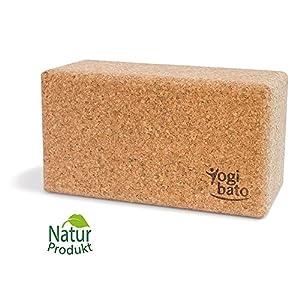 Yogibato Yoga-Block aus 100% Natur-Kork | 1er & 2er Pack | Kork-Block für Yoga & Pilates | 22,5 x 12 x 7,5 cm | Yoga-Klotz rutschfest