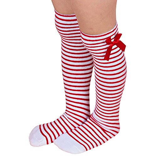 Bluelans-Girls-Kids-Soft-Cotton-Striped-Knee-High-Socks-with-Lovely-Bow-Decor