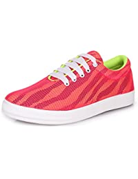 Trase Fluoro Mesh Canvas & Sneaker / Casual Shoes for Women / Girls for Summers