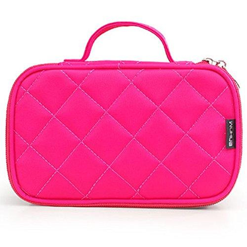 FYX Make-up-Tasche Multifunktionale Handtasche Make Up Organizer Kosmetiktasche für Kosmetik Aufbewahrung von Höher Quilität für Reise und zu Hause (Rosa)