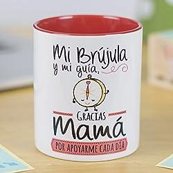 """La Mente es Maravillosa - Taza con frase y dibujo divertido""""Mi brújula y mi guía, gracias mamá por apoyarme cada día"""" Regalo original para MAMÁ"""