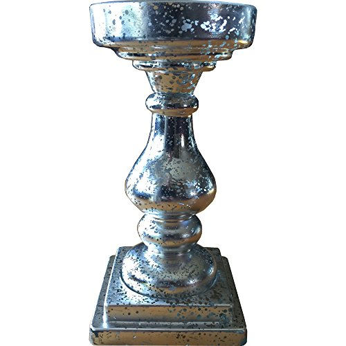 speckled-glass-ornate-candle-holder-in-silver
