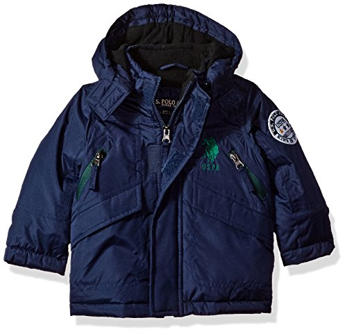 US Polo Association Baby Boys' Outerwear Jacket (More Styles Available), UC09-Navy, 12M (Us Polo Baby)