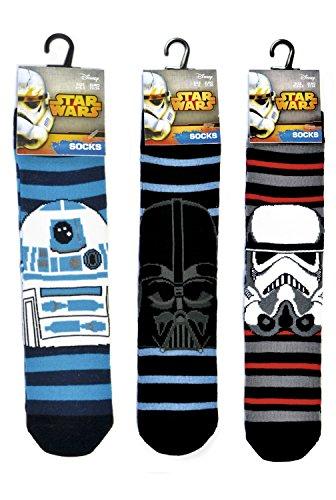 Confezione da 3: Disney Star Wars Ragazzi Calzini-Disney ufficiale Assorted Colours & Designs Junior  23/26
