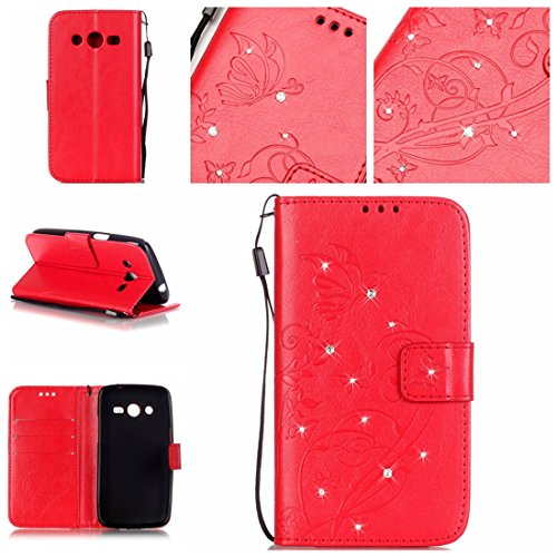 Générique, Mädchen Boxschuhe  rouge papillon Samsung Galaxy 4G Lte / Avant SM-G386