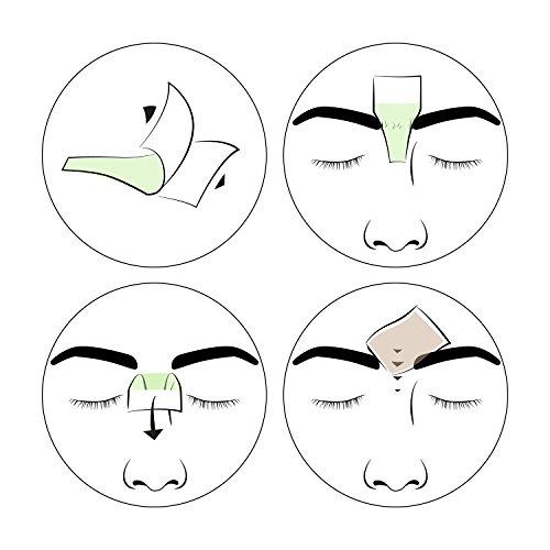 andmetics BROW wax strips: patentierte Augenbrauen Kaltwachs Enthaarung Streifen, perfekte Form zum Formen, Wachsen, Färben (Färbeschablone), ohne Augenbrauen zupfen