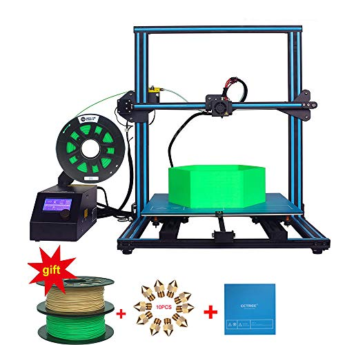 Creality CR-10S S4 3D Printer DIY Kit Large Printing Size 400x400x400mm With 2kg CCTREE PLA 1.75mm Filament Monitor Dual Z Axis T Screw Rodsent Large Printing Size ()