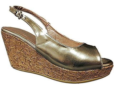 Foster Footwear , Talons compensés femme - or - doré,