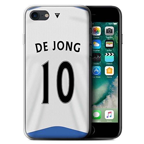 Offiziell Newcastle United FC Hülle / Gel TPU Case für Apple iPhone 7 / Shelvey Muster / NUFC Trikot Home 15/16 Kollektion De Jong