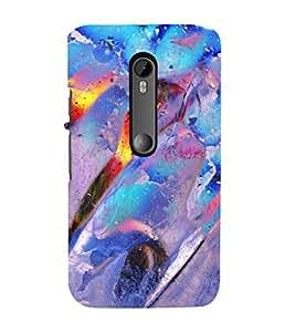 EPICCASE blue feathers Mobile Back Case Cover For Moto G 3rd Gen (Designer Case)