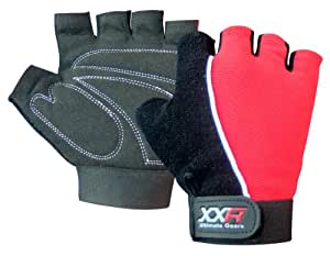 xxr Gel Max Padded Cycling Gloves MTB Mountain Bike Biker Gloves Fingerless Bicycle Exercise Gym Fitness Gloves Amara Gloves (2XL)