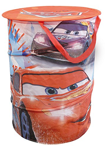 Disney Pixar Cars Portagiochi In Tela Pop Up Cilindrico