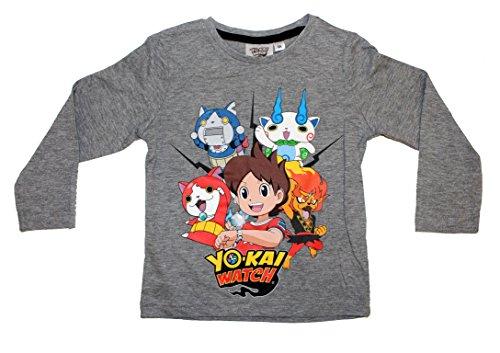 Yo-Kai Watch - Camiseta de manga larga - para niño gris 4 años