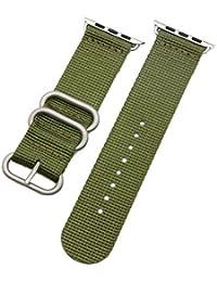 38 mm de la NATO correas de reloj de nylon estilo de lona de los hombres de  perlón militares verdes de alta calidad… a95e4086ac4f