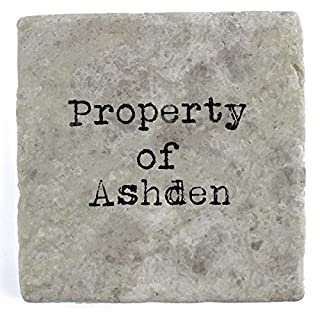 Property of Ashdan - Set of Four Marble Tile Drink Coasters
