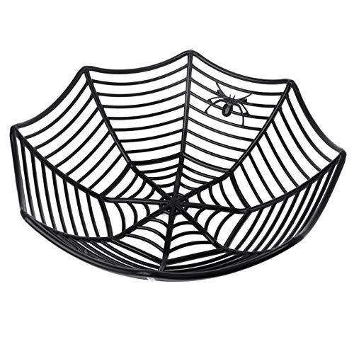 JAGENIE Halloween-Zubehör aus Kunststoff mit Spinnennetz, Obst, Süßigkeitenkorb, Schüssel, Halloween, Party-Dekoration, Zubehör, Plastik, 3, Reference Picture or Product Description