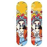 YMQC Skateboard,Skateboard Kinder Hochwertiges Ahornholz, Aluminium, Stahl, PU-Material Hält Einem Gewicht Von 130 Kg Stand. Länge 80 cm * Breite 20 cm (Mode),B