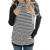 Hanomes Damen pullover, Frauen Casual Hoodie Gestreiftes Sweatshirt Pullover Tops Bluse Jumper Coat preisvergleich bei billige-tabletten.eu