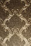 Vinyltapete Tapete Barock Retro glanz # braun/grau/silber # Kingwelson # 691006