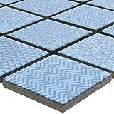 Mosaikfliesen Keramik Sapporo Blau | Wandfliesen | Mosaik-Fliesen | Boden-Fleisen | Fliesen-Bordüre | Ideal für den Wohnbereich, die Küche und das Badezimmer (auch als Muster erhältlich)