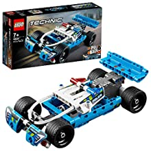LEGO 42091 Technic Police Pursuit Toy Car with Pull-Back Motor Building Set for 7+ Years Old Boys and Girls