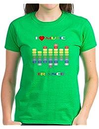 CafePress - Trance Music Equalizer - Womens Cotton T-Shirt