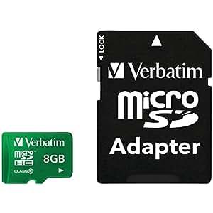 Verbatim 44042 Tablet Class 10 microSDHC 8GB Speicherkarte inkl. Adapter grün