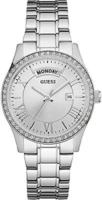 Guess  W0764L1 - Reloj de lujo para mujer, color plateado
