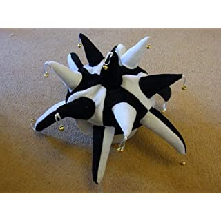 Ayr United Jester Hat for Fancy Dress Black and White