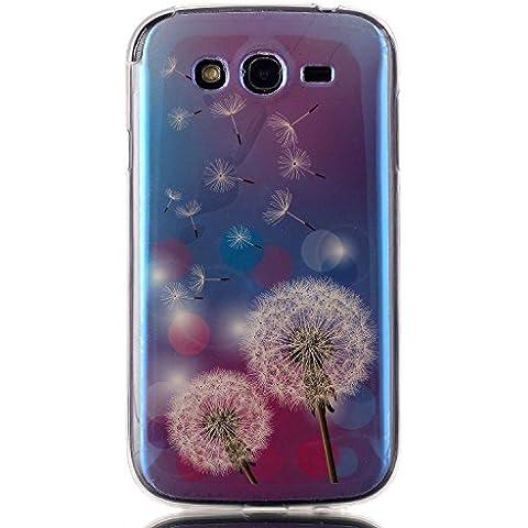 Cuitan TPU Funda Carcasa para Samsung Galaxy Grand Neo Plus i9060, 3D Rayo Azul Protectora Cubierta Carcasa del Teléfono Case Cover para Samsung Galaxy Grand Neo Plus i9060 - Dientes de