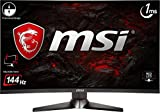 'MSI Optix mag27cq WQHD Monitor Gaming 27, schwarz/rot