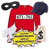 Langarm T-Shirt SET PANZERKNACKER Kostüm Karneval